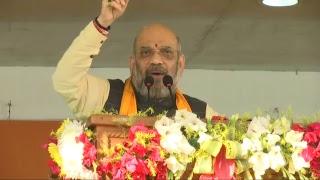 Shri Amit Shah addresses Mega Panna Pramukh Sammelan in Agartala, Tripura