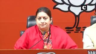 Will give befitting reply over attack on V Muraleedharan's residence, says Smriti Irani