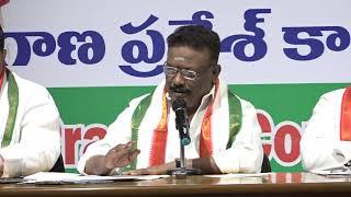 Congress Leader Dasoju Sravan Kumar Press Meet | Gandhi Bhavan | Prathinidhi news