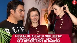 Arbaaz Khan with Girlfriend Georgia Andriani Spotted at a Restaurant in Bandra