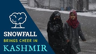 Snowfall brings cheer in Kashmir