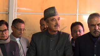 Winter Session of Parliament: Ghulam Nabi Azad addresses media in Parliament House