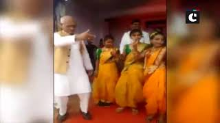 NCP MP Madhukar Kukade dances along with schoolgirls at cultural programme