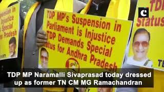 Shivraj Chouhan and other BJP leaders sing 'Vande Mataram' outside Mantralaya in Bhopal