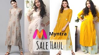 Myntra Sale Haul | Kurti Sets Rs. 650 to Rs. 1200 | Nidhi Katiyar