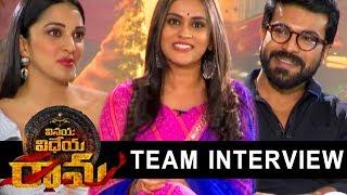 Ram Charan and Kiara Advani Special Interview About Vinaya Vidheya Rama