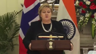 Exchange of Agreements & Press Statements: State Visit of Prime Minister of Norway to India