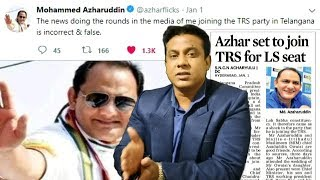 Azhar Uddin To Join Trs Is This Truth ? | What Azhar Says ? | @ SACH NEWS |