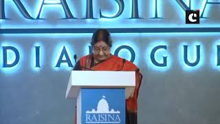 Raisina Dialogue 2019 witnessed widest ever participation with over 600 delegates: EAM Swaraj