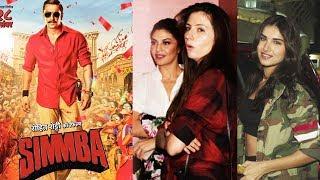 Jacqueline Fernandez And Tara Sutaria Watches SIMMBA At Juhu PVR