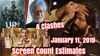 #KGF Vs Simmba Vs #URI Vs The Accidental Prime Minister Screencount Estimates In Hindi Circuit