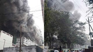 Nagpur: Massive fire breaks out at an under-construction hospital