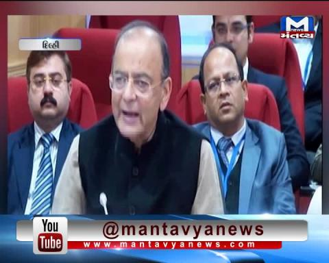 Finance Minister Arun Jaitley addresses media after GST council meeting