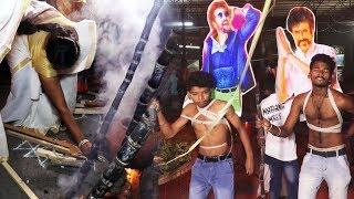 PETTA Movie | Rajinikanth Crazy Fans Celebrating PONGAL With Petta Release | BLOCKBUSTER FILM