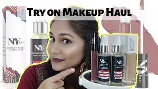 Try on Makeup Haul | Maybelline Super Stay 24H foundation, NY Bae Fixer & Primer