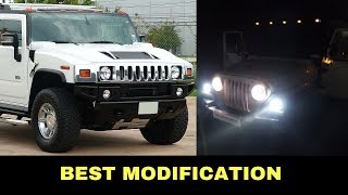 White Thar converted Into Hummer H2 | Best Modification????