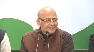 AICC Press Briefing By Abhishek Manu Singhvi at Congress HQ on removal of CBI Director Alok Verma