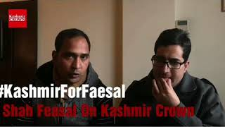 #KashmirForFaesal Exclusive Interview Of Shah Faesal With Shahid Imran on Kashmir Crown.