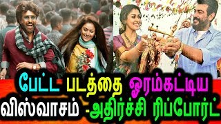 ரஜினியை ஓரம்கட்டிய அஜித்|Ajith Viswasam Movie Overtake Petta Movie|Viswasam Review|Petta Review