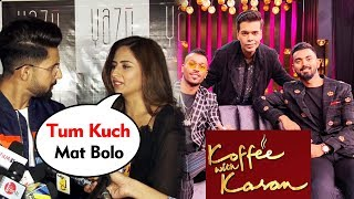 Ravi Dubey & Sargun Mehta Reaction On Hardik Pandya & KL Rahul's BCCI BAN | Koffee With Karan
