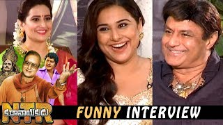 Balakrishna and Vidya Balan Funny Interview about NTR Biopic Movie || NTR Kathanayakudu Movie