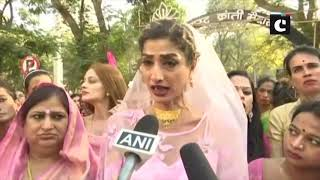Transgender community takes to streets in Mumbai to oppose Transgender Bill