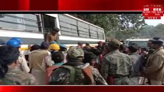 [ Jharkhand ] जमशेदपुर में हंगामे के बीच पुलिस की मौजूदगी में पहाड़ी के खनन कार्य शुरू