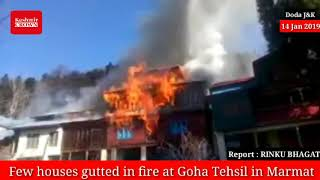 Few houses gutted in fire at Goha Tehsil in Marmat