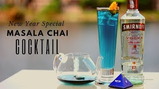 New Year cocktail | Masala Chai Cocktail | Cocktail with Butterfly pea Tea | Dada Bartender