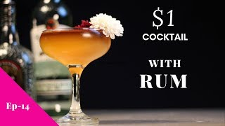 One Dollar Cocktail With Old Monk Rum | $1 Cocktail Cleopatra | Cocktail With Rum | Dada Bartender