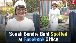 Sonali Bendre Behl Spotted at Facebook Office for a Live Book Discussion