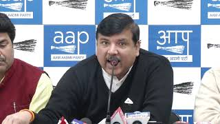 AAP Rajya Sabha Member Sanjay Singh Briefs on Media on Rafale Issue
