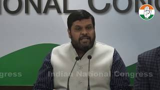 AICC Press Briefing By Prof Gourav Vallabh at Congress HQ on inflation and unemployment
