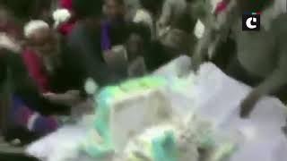 Watch: Ruckus at BSP chief Mayawati's birthday event in Amroha after people loot cake