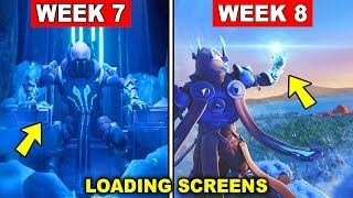 FORTNITE WEEK 7 AND WEEK 8 LOADING SCREEN WITH SECRET BATTLE STAR AND SECRET BANNER LOCATIONS