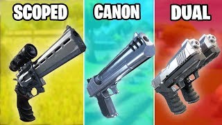 SCOPED REVOLVER vs HAND CANON vs SILENCED PISTOL VS DUAL PISTOL - WHICH IS THE BEST IN FORTNITE