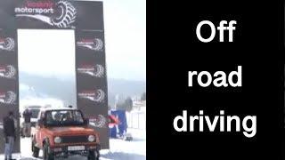 गुलमर्ग में off road snow car racing, बर्फ में driving का रोमांच