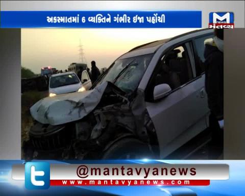 Dhandhuka: 1 dead, 6 injured in accident involving three cars