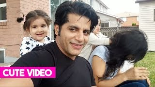 Karanvir Bohra Having Fun With His Daughters Bella & Vienna