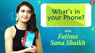 Fatima Sana Shaikh plays the fun game of Whats In Your Phone' with Bollywood Bubble