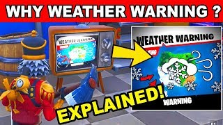 FORTNITE NEWS : WEATHER WARNING ON TV - SECRET ENDING TO SEASON 7 (Fortnite Battle Royale)