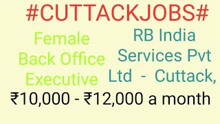 #CUTTACK#JOBS  near me|Jobs in CUTTACK For Freshers and Graduates | No experience |