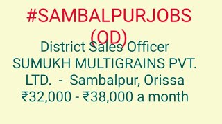 #JOBS#near#me|Jobs in SAMBALPUR (OD) For Freshers and Graduates | No experience | Part Time |