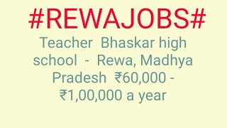 #JOBS#near#me|Jobs in REWA For Freshers and Graduates | No experience | Part Time | At Home |