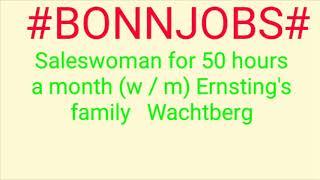 #BONN#JOBS