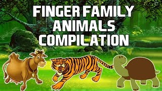 Finger Family Animals Compilation | Learn Wild Animals, Domestic Animals, Sea Animals