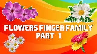 Flowers Finger Family - 1 | Cartoon Flowers | Nursery Rhymes with Lyrics