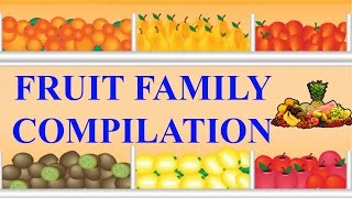 Fruits Finger Family Compilation | Learn Names of Fruits | Fruit Rhymes