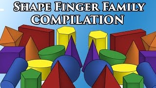 Shapes Finger Family Compilation For Children | The Shapes Song
