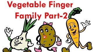 Vegetables Finger Family - 2 | Finger Family Collection